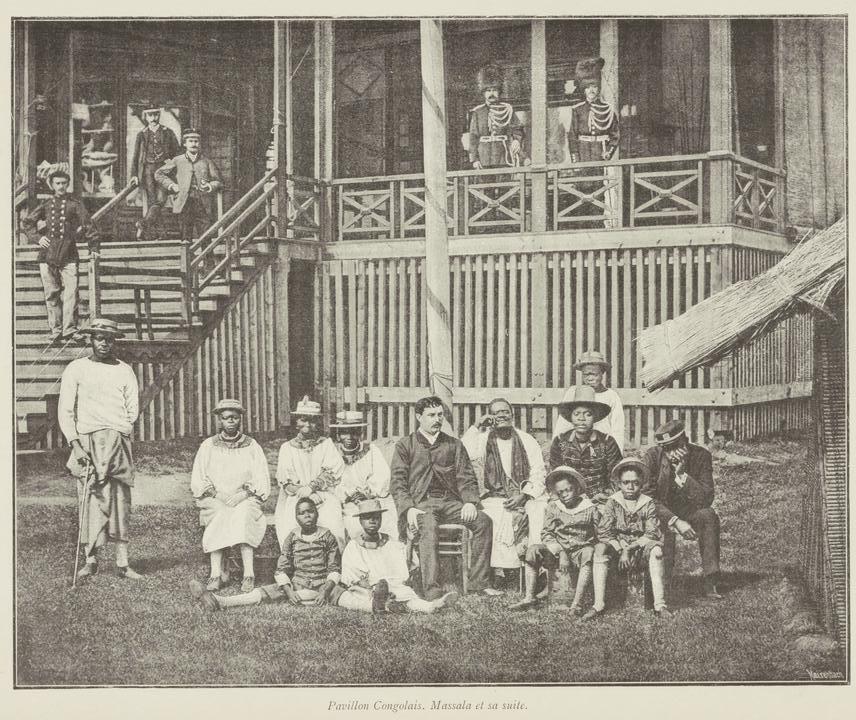 Pavillon Congolais. Massala et sa suite.