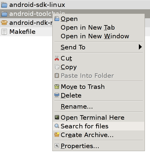 """Adding """"Search in Folder"""" to Thunar Custom Actions 